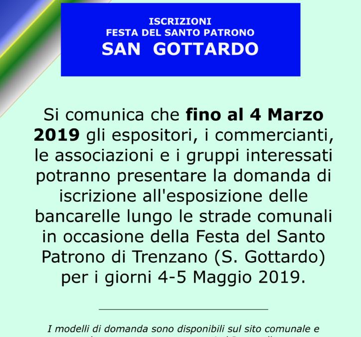"""Apertura iscrizioni per esposizione """"Festa di San Gottardo"""""""