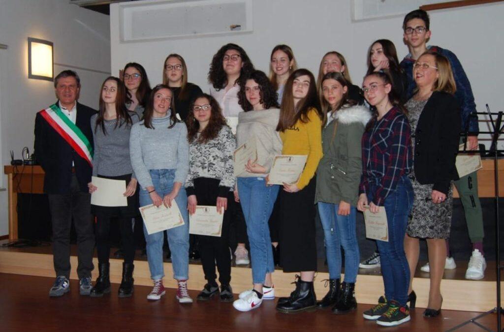 Cerimonia di premiazione del 15 Febbraio 2019