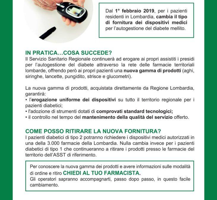 Informativa Regione Lombardia per i cittadini diabetici