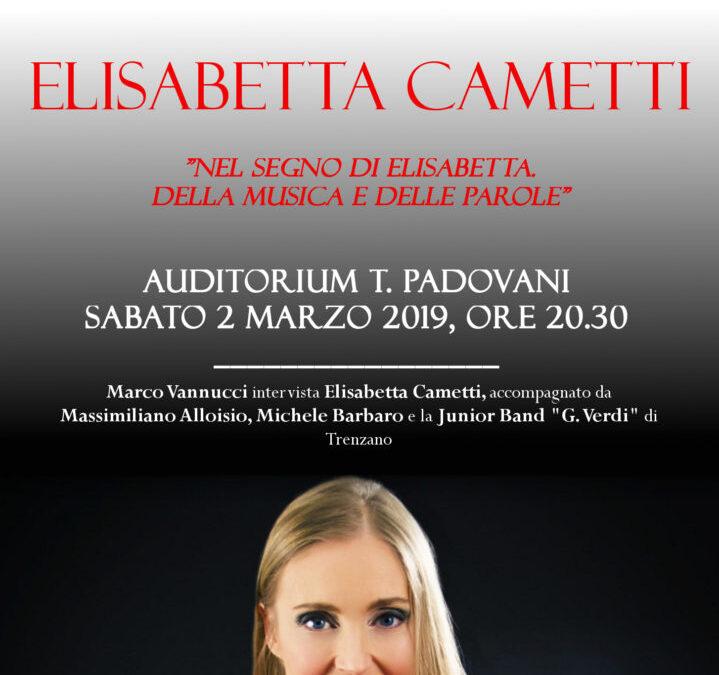 """Elisabetta Cametti, """"Nel segno di Elisabetta. Della Musica e Delle Parole"""""""