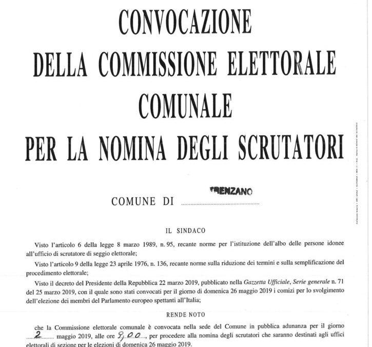 Convocazione della Commissione elettorale