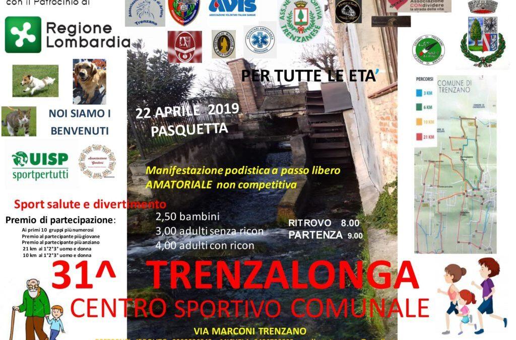 31^ Ed. Trenzalonga, 22 Aprile 2019