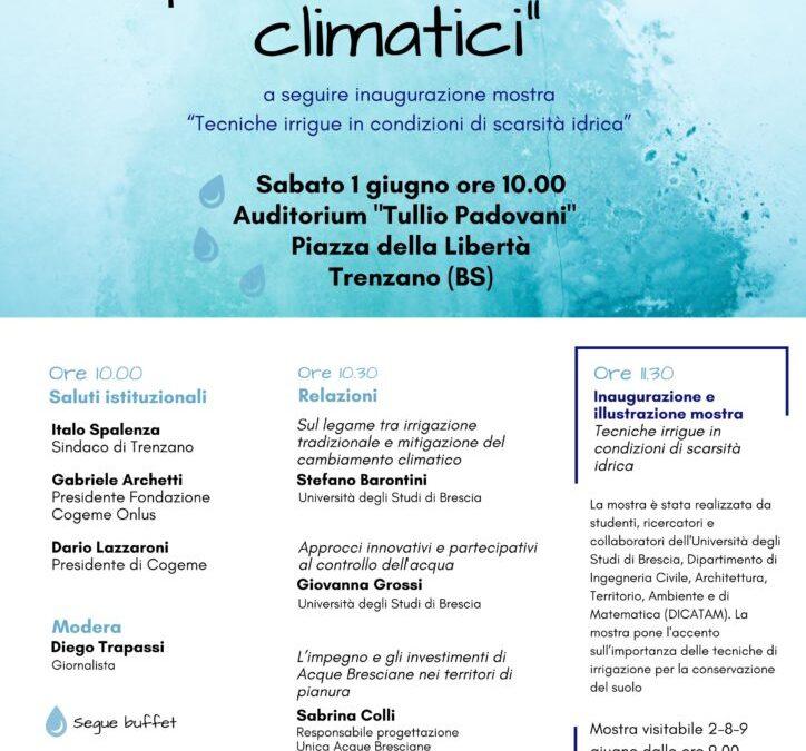 Acqua e cambiamenti climatici, 1 Giugno 2019