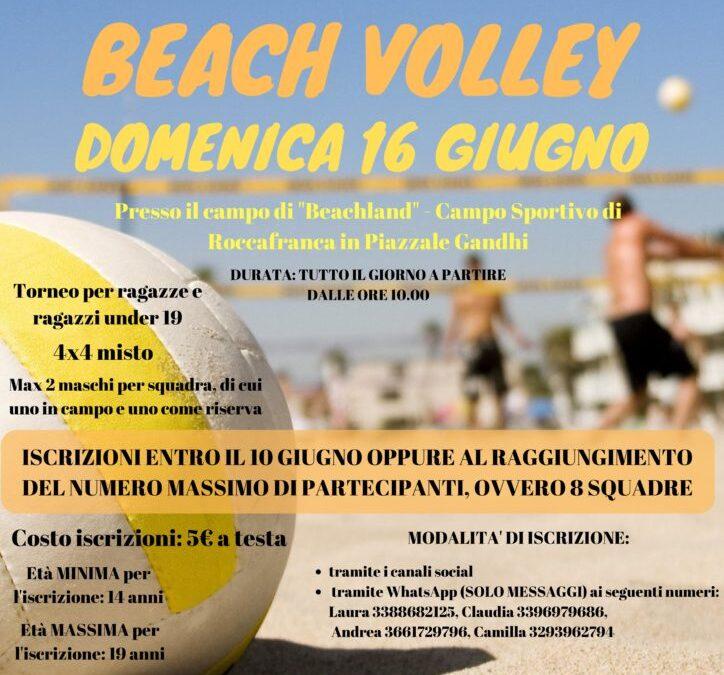 Torneo di Beach Volley, 16 Giugno 2019