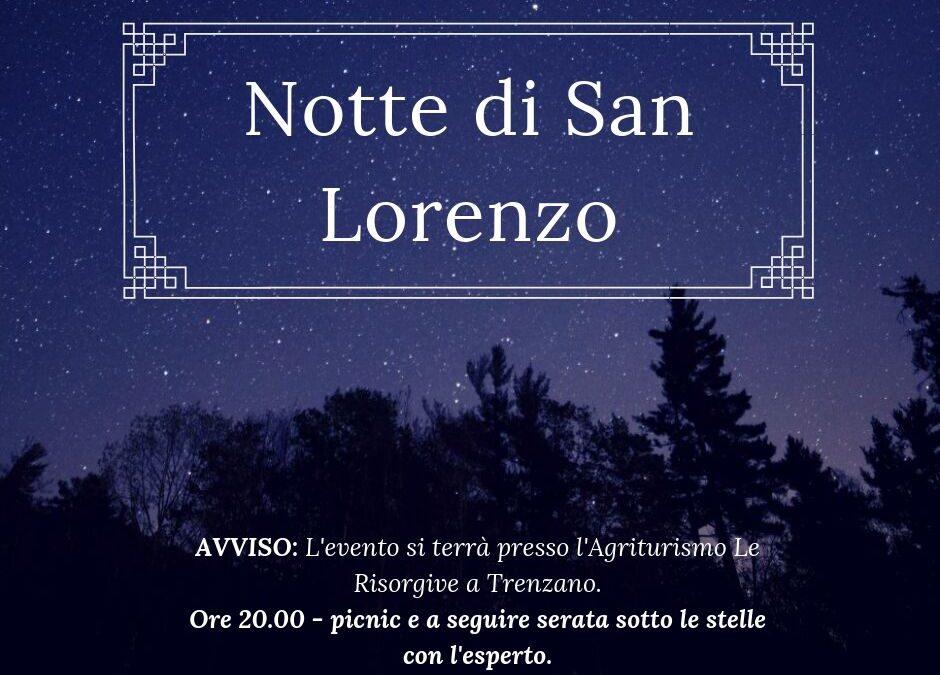 """""""Notte di San Lorenzo"""", aggiornamento evento"""