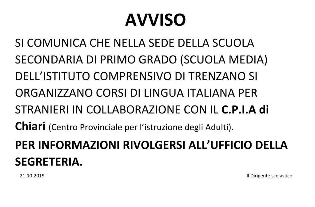 Informativa corsi di lingua italiana