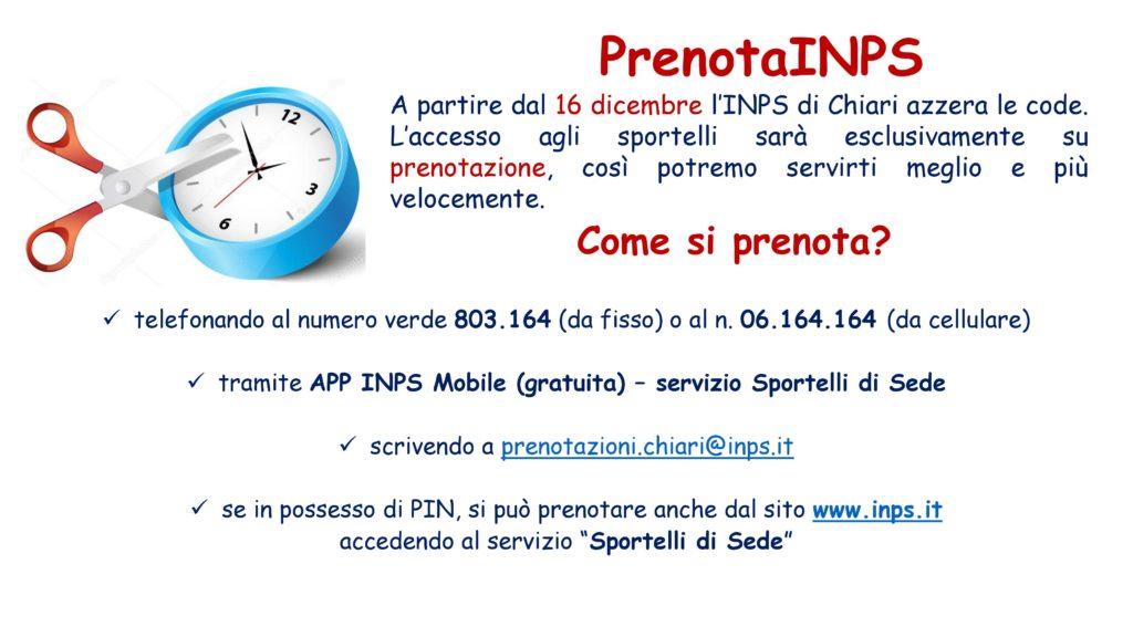 Comunicazione Sportello INPS di Chiari