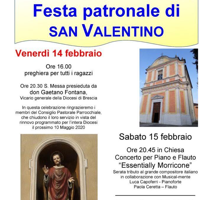 Festa patronale di San Valentino, 14-15-16 Febbraio 2020
