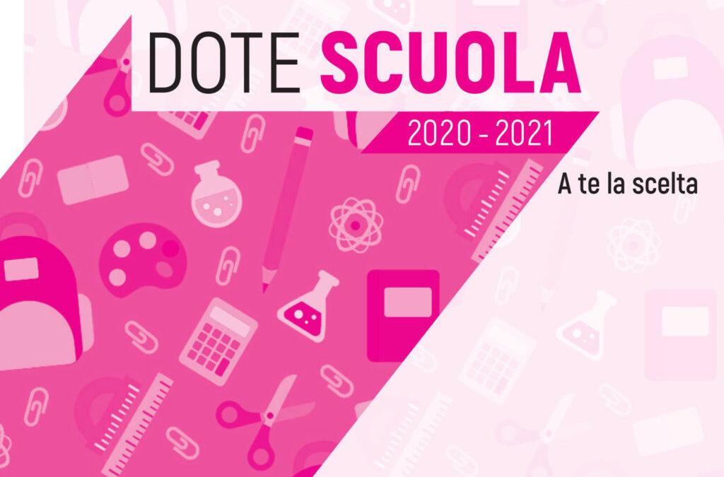 Avviso Dote scuola A.S. 2020/2021