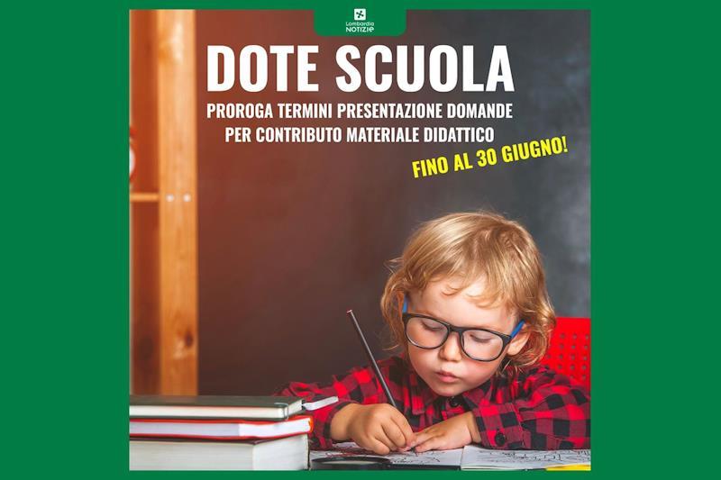Proroga termini per la presentazione della Dote Scuola a.s. 2020/2021