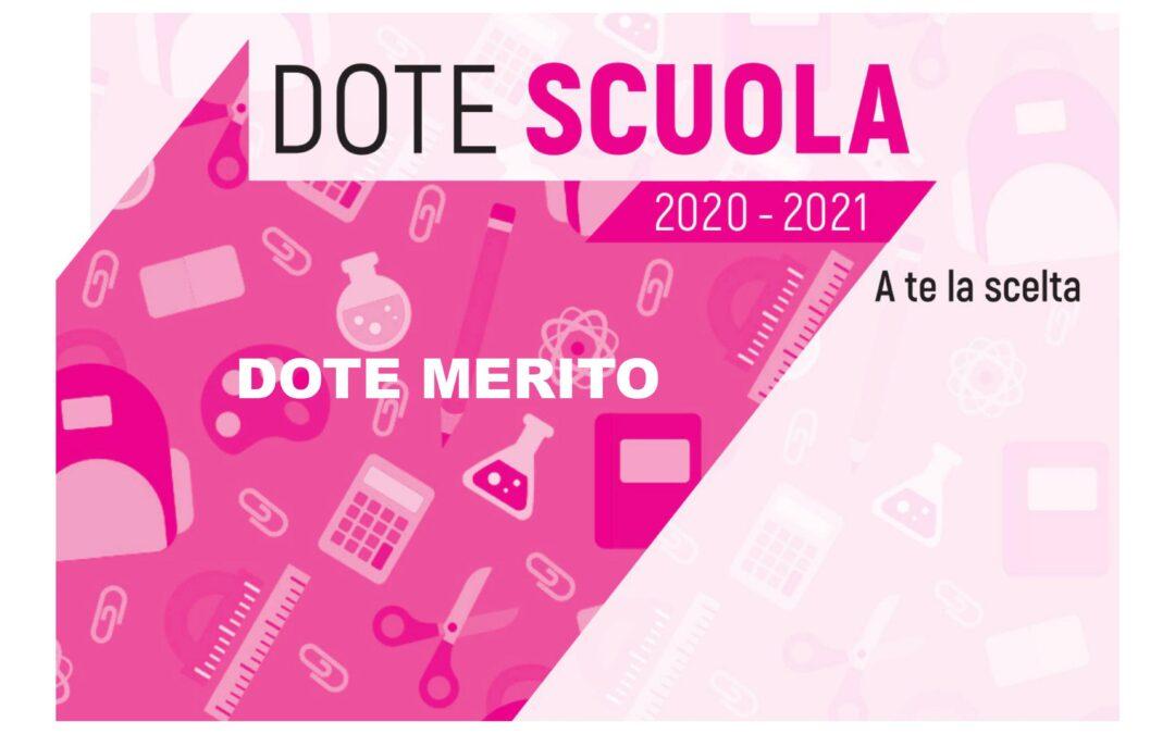 Dote Scuola Merito 2020/2021
