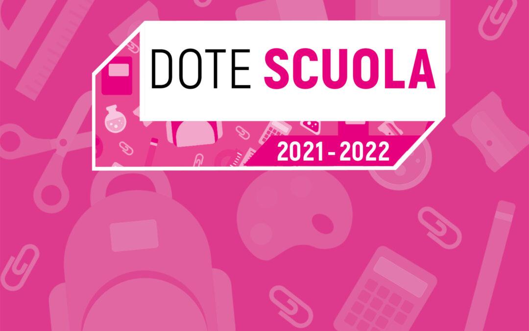 Avviso Dote scuola A.S. 2021/2022