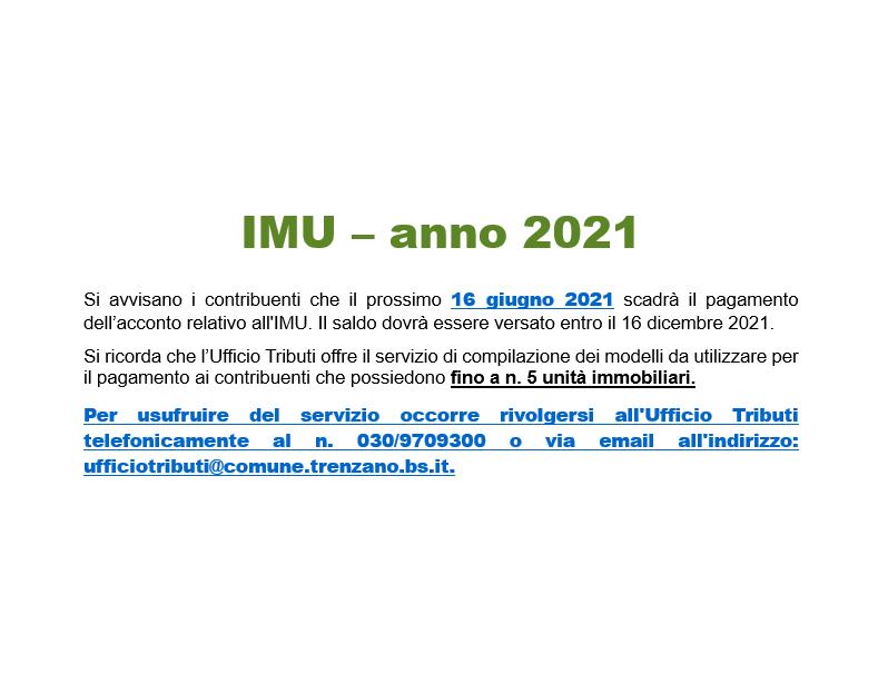 Avviso di scadenza dell'acconto IMU