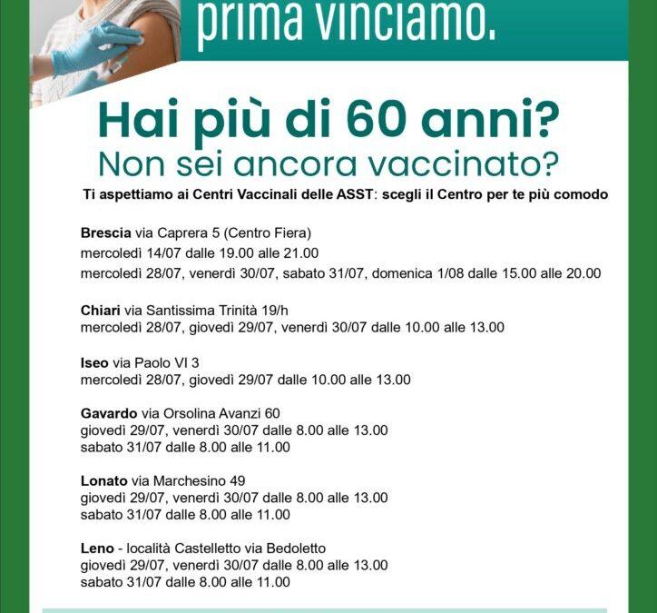 V-Day Over60, campagna vaccinale anticovid-19