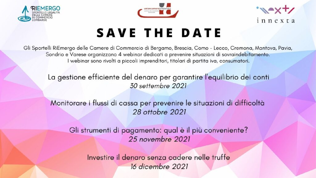 CCIAA Brescia: Invito ad attività di formazione e promozione dell'economia legale