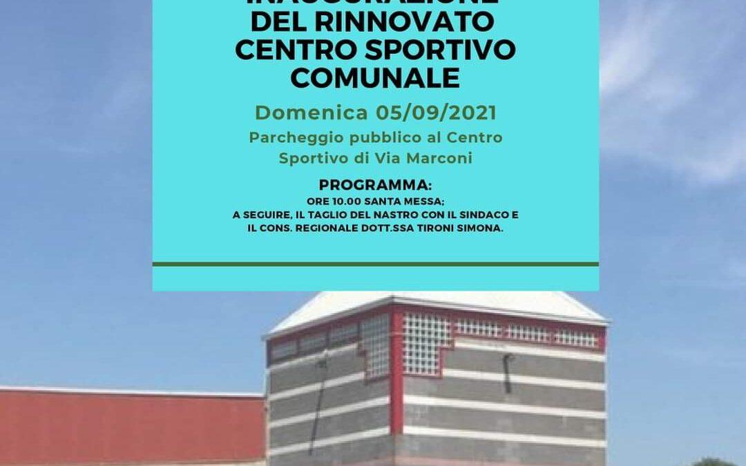 Inaugurazione del Centro Sportivo, 05/09/2021